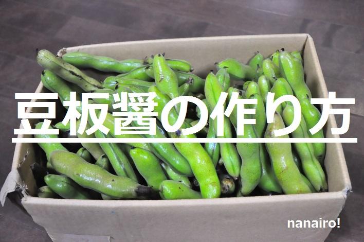 豆板醤の作り方。東京の発酵ワークショップnanairo!のレシピ