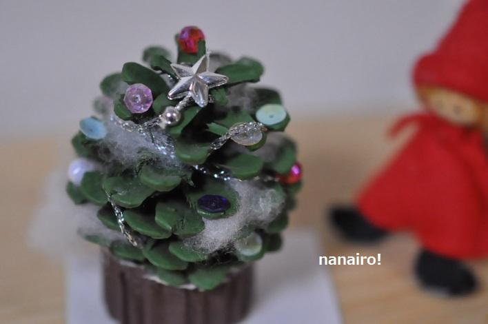松ぼっくりのクリスマスツリー