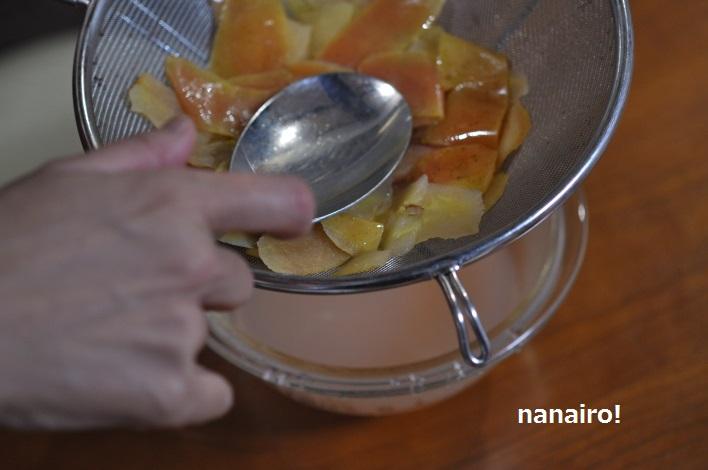 りんごの煮汁