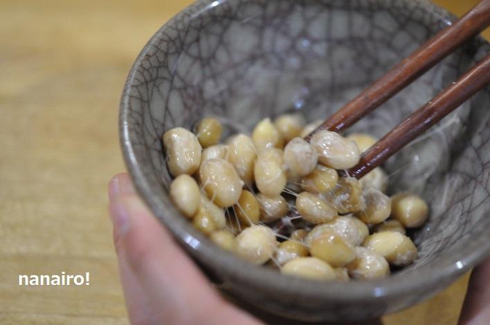 ヨーグルティアで自家製納豆、混ぜると糸を引きました。