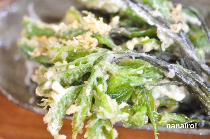 魚醤のおすすめの使い方、天ぷらの衣、コシアブラの天ぷら。