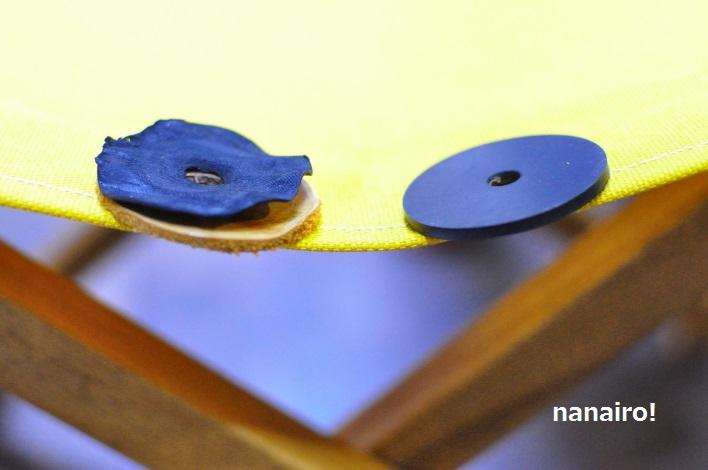 リボのバランスチェア、ゴムディスクに仕様が変更されました。厚さはほぼ同じです。