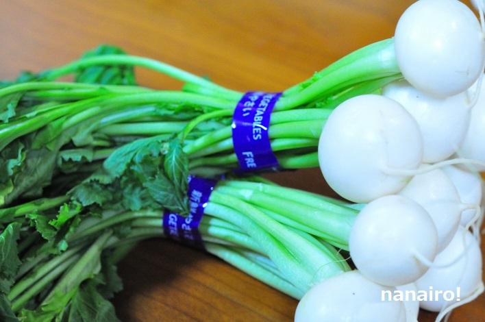 白いかぶをすんきの種で乳酸発酵