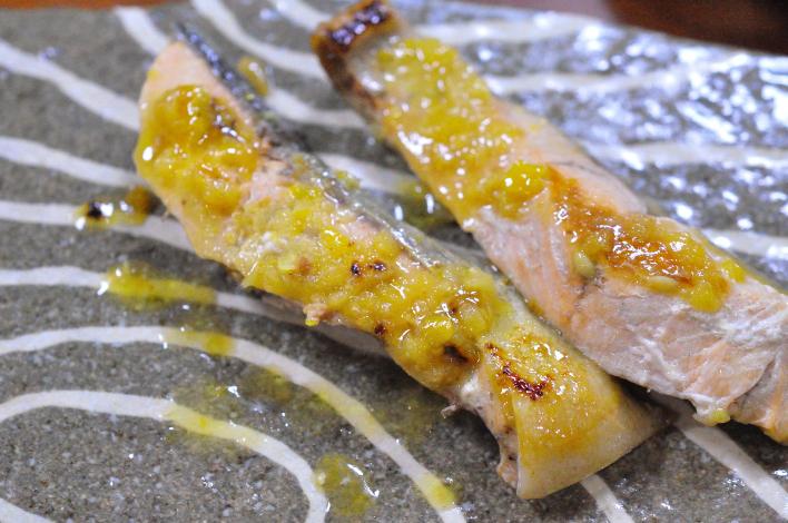 鮭のゆず塩焼き