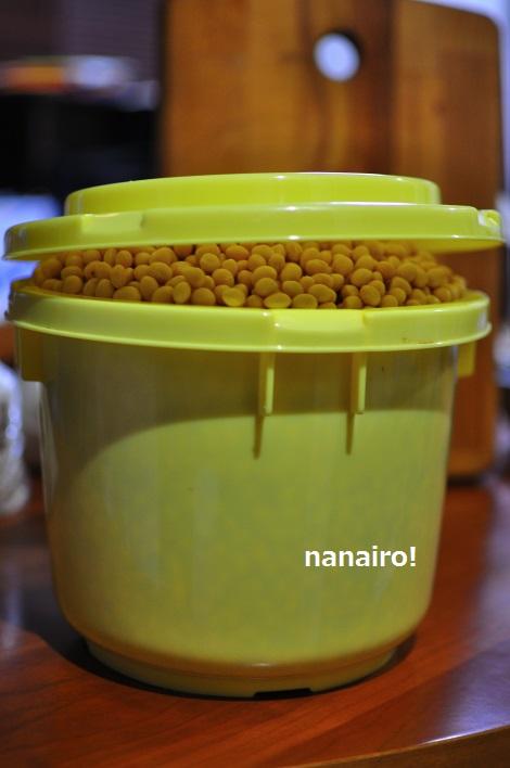水の量を間違えると、大豆が乾いてしまいます。