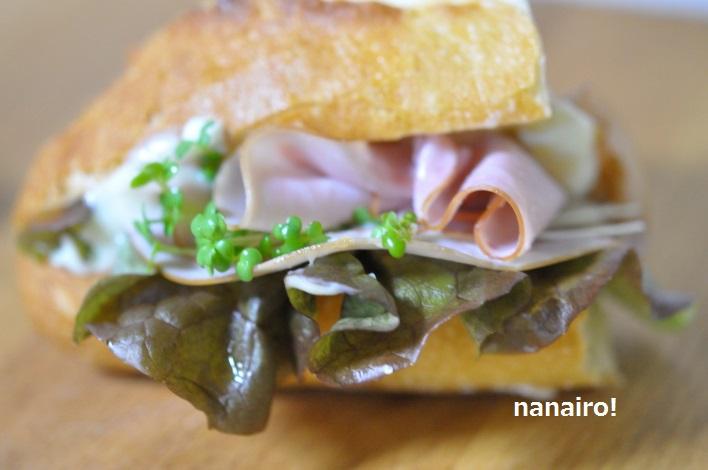 自家製魚醤で、お店の味のサンドイッチ。
